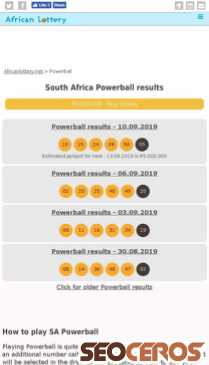 Powerball results, prizes & rules - south africa