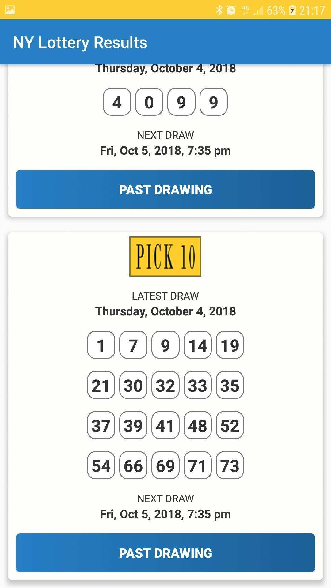 Numéros New York (Nouveau) résultats de loterie & détails du jeu