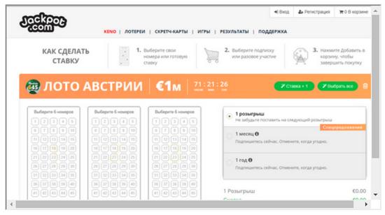 Pelaa itävaltalaista lottoa verkossa: hintavertailu osoitteessa lotto.eu