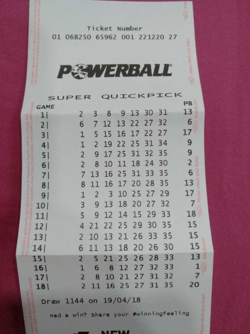 Oz powerball-info